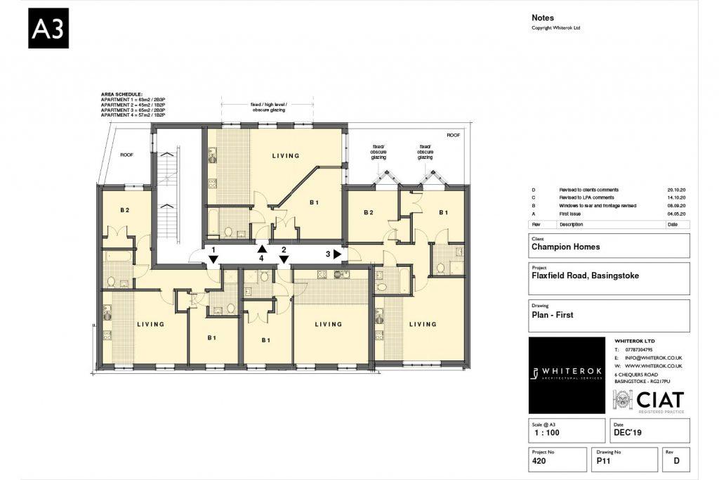 flaxfield road housing development 1st Floor